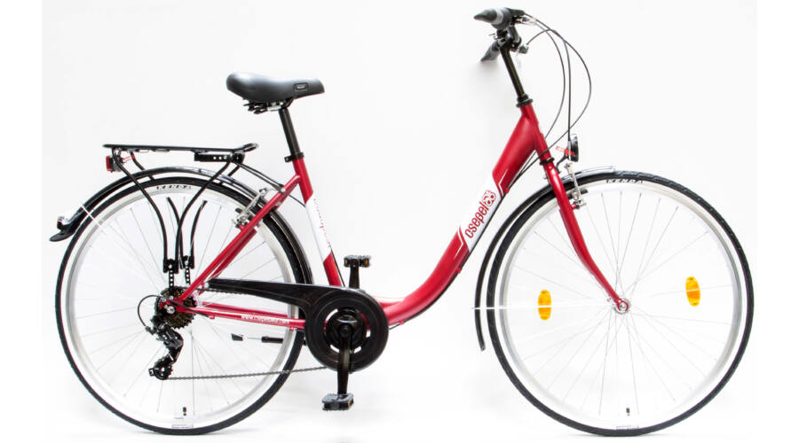Schwinncsepel BUDAPEST B 28 19 7SP 16 női City Kerékpár matt piros 909a0e66ce